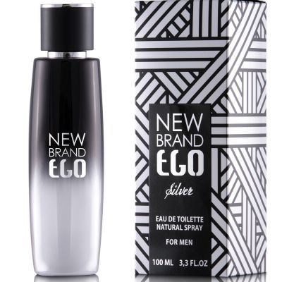 New Brand Prestige Ego Silver For Men - Eau de Toilette 100ml