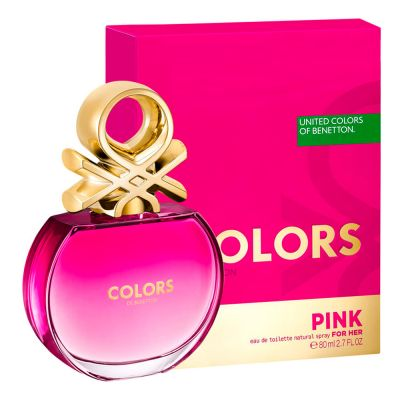 Benetton Perfume Feminino Colors Pink Eau de Toilette 80ml