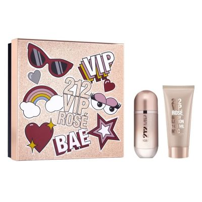 Kit Carolina Herrera 212 Vip Rosé - Perfume EDP 80ml + Body Lotion 100ml