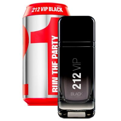 Carolina Herrera 212 VIP Black Perfume Masculino EDT 100ml (Collector Lata)