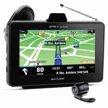 GPS Multilaser Tracker 7'' TV + kit p/ câmera de ré (GP039)