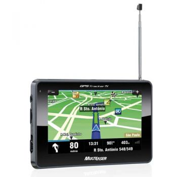 GPS Multilaser Tracker 4.3'' TV + kit p/ câmera de ré (GP035)
