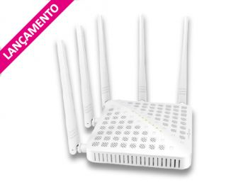 ROTEADOR LINK ONE WIRELESS AC 1200 MBPS HIGH POWER DUAL BAND L1-RWH1235AC