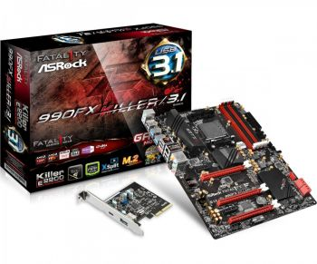 PLACA MAE ASROCK 990FX KILLER DDR3 USB3.1 ATX AM3+