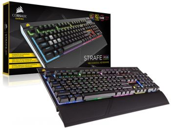 TECLADO CORSAIR STRAFE RGB CHERRY MX BROWN CH-9000094-NA