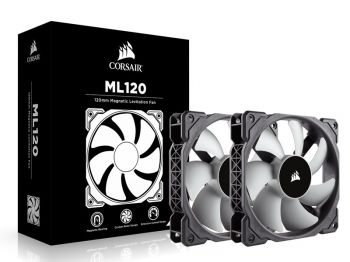 FAN CORSAIR ML120 PRO 120MM TWIN PACK C/ 02 UND CO-9050039-WW