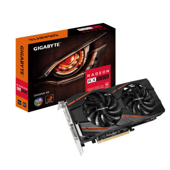 PLACA DE VÍDEO GIGABYTE RX 580 GAMING 4GB GDDR5 256BIT GV-RX580GAMING-4GD