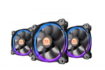 FAN THERMALTAKE RIING 12MM RGB LED SWITCH TRIPLE PACK CL-F042-PL12SW-B