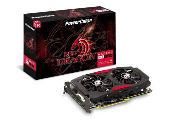 PLACA DE VIDEO POWER COLOR RX 580 RED DRAGON 8GB DDR5 256BIT AXRX 580 8GBD5-3DHD/OC