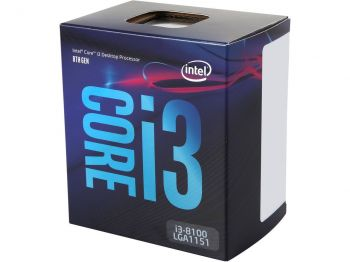 PROCESSADOR INTEL COFFEE LAKE I3-8100 QUAD-CORE 3.60GHZ LGA 1151