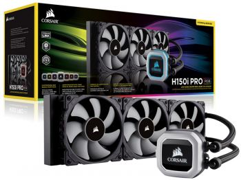 WATER COOLER CORSAIR H150I PRO HYDRO SERIES RGB 360MM TRIPLE FAN CW-9060031-WW