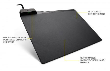 MOUSE PAD CORSAIR MM1000 QI WIRELESS CHARGING CH-9440022-NA  - foto principal 1