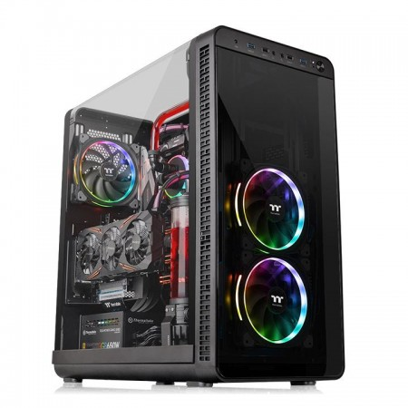 GABINETE THERMALTAKE VIEW 37 RGB PLUS BLACK WIN CA-1J7-00M1WN-01  - foto principal 1