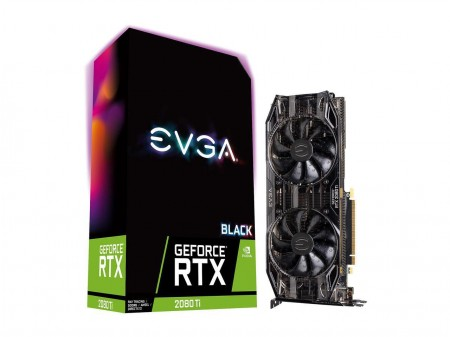 PLACA DE VIDEO EVGA RTX 2080 TI BLACK EDITION GAMING 11GB GDDR6 352BIT 11G-P4-2281-KR  - foto principal 1