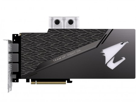 PLACA DE VIDEO GIGABYTE RTX 2080 TI XTREME WATERFORCE WB 11GB GDDR6 352BIT GV-N208TAORUSX WB-11GC  - foto principal 1