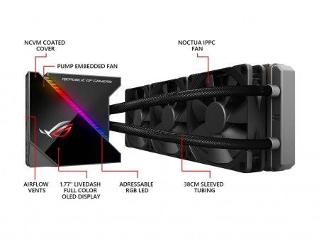 WATER COOLER ASUS ROG RYUJIN 360 RGB 360MM TRIPLE FAN  - foto principal 1