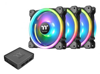 FAN THERMALTAKE RIING TRIO 120MM TT PREMIUM EDITION RGB TRIPLE PACK CL-F072-PL12SW-A