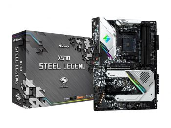 PLACA MAE ASROCK X570 STEEL LEGEND DDR4 M.2 USB3.1 ATX AM4