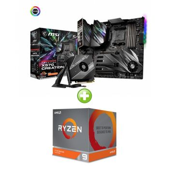 COMBO PROCESSADOR AMD ZEN 2 RYZEN 9 3900X + PLACA MAE MSI X570 PRESTIGE CREATION AM4