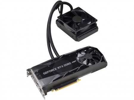 PLACA DE VIDEO EVGA RTX 2080 SUPER XC HYBRID GAMING 8GB GDDR6 256BIT 08G-P4-3188-KR  - foto principal 1