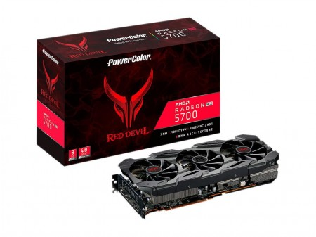 PLACA DE VIDEO POWER COLOR RX 5700 RED DEVIL 8GB 256BIT GDDR6 PCI-E 4.0 AXRX 5700 8GBD6-3DHE/OC  - foto principal 1