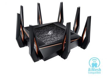 ROTEADOR ASUS ROG RAPTURE GT-AX11000 TRI BAND 10 GIGABIT WiFi6 802.11AX GAMING ROUTER