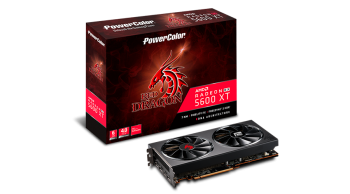 PLACA DE VIDEO POWER COLOR RX 5600 XT RED DRAGON 6GB GDDR6 PCI-E 4.0 6GBD6-3DHR/OC