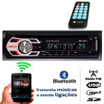 Radio Mp3 Cd Player E-tech Auxiliar Usb Bluetooth Sd Card