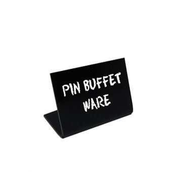 Pin Buffet Ware | Display Acrílico Preto | Pinheirense