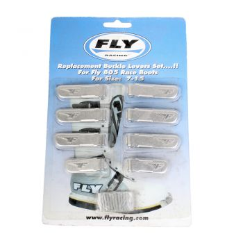 Trava + Fecho Fly Racing de Alumínio para Bota Fly Stinger ou Fly 805