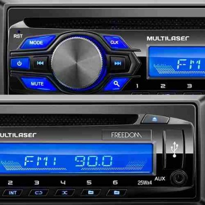 Radio Cd Usb Mp3 Multilaser Freedom P3239 4x25w  - foto principal 2