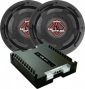 Kit 2 Subwoofer Bomber Upgrade 12 350wrms+ Banda Ice 800wrms