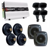 Kit 4 Driver D200 + 02 Tweeter St200 + Taramps Ts400x4