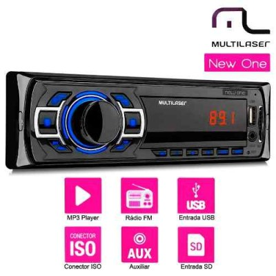 Radio Mp3 Player Mutlilaser New One C/ Fm Usb Sd Aux -p3318  - foto principal 1