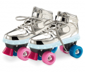 Patins 4 Rodas Prata Com Led Tam 33 34 Tenis Fun 8310-6