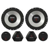 Kit 2 Vias Bomber Upgrade Alto Falante 6'' 200W RMS Par + Tweeter 120 RMS Par + Crossovers