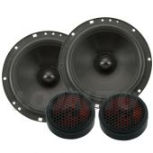 Kit 2 Vias Hinor City 6 polegadas 280w Rms 4 Ohms kit Duas Vias Falantes + Tweeter