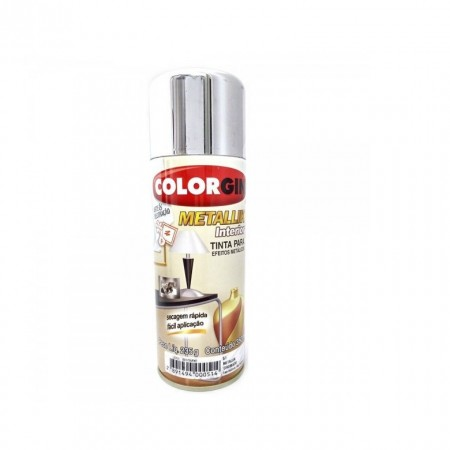 Tinta Spray Metallik Cromado 350ml Colorgin