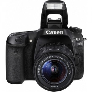 Câmera Digital Canon DSLR EOS 80D - 24.2MP -  Com lente EF-S 18-55mm f/3.5-5.6 IS STM