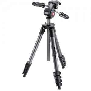 TRIPÉ MANFROTTO COMPACT ADVANCED PARA ATÉ 3KG - PRETO