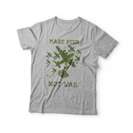 Camiseta Make Beer Not War (Cinza)  - foto principal 1