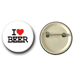 Botton I Love Beer (Branco)