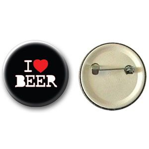 Botton I Love Beer (Preto)