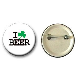 Botton I Love Beer (Trevo)