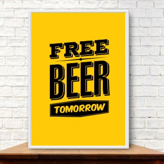 Poster Free Beer Tomorrow  - foto principal 1