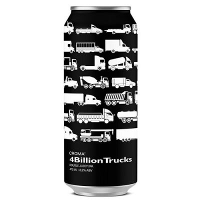 Croma 4Billion Trucks Double Juicy IPA - Lata 473ml  - foto 1