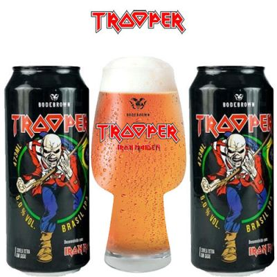 Kit Iron Maiden Trooper IPA - 2 Latas + Copo