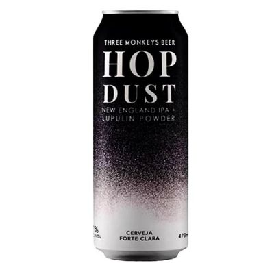 Three Monkeys Hop Dust NE IPA - Lata 473 ml