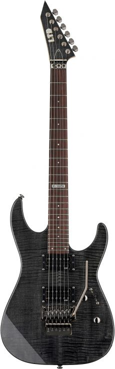 Guitarra ESP LTD M-100FM STBLK | Floyd Rose | Flamed Maple | ST Black