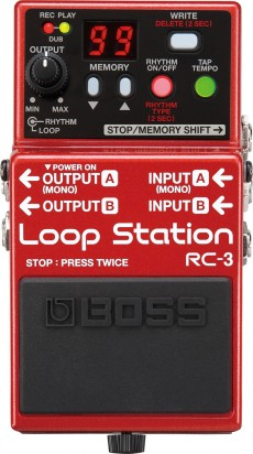 Pedal Boss RC-3 Loop Station | USB 2.0 | 3 horas de Gravação